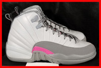 arts designer tables - new arrival woman basketball shoes air retro GS wolf grey vivid pink cool authorize XII s designers womens sport shoe women s sneaker
