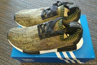air cargo pack - Top Quality NMD R1 Runner Boost Primeknit Camo Pack Pack braun BA8597 Primeknit Olive Camo Cargo Black White Running Shoes S