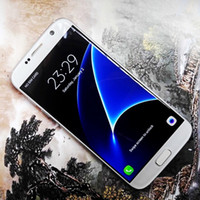 Wholesale DHL Free Curved screen S7 Edge MTK6735 Real G LTE Cell Phones Android inch Goophone s7 Show Octa core Smart phone Quad PK NOTE I7 plus