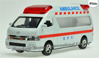 ambulance lights - 1 Scale Metal Diecast Alloy Ambulance Car Model For TOYOTA Himedic Hiace Collection Model Pull Back Toys Car Sound Light
