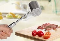 Wholesale Stainless Steel Beef Pork Chicken Pounder Meat Hammer Mallet Tenderizer Meat Poultry Tools Kitchen Tool LLFA
