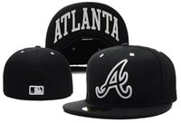 Ball Cap atlanta cap black - 2017 NEWEST Fashion hip hop Atlanta Braves Snapback Medium Raised Embroidery Letter Fitted Hat Structured Classic Crown Baseball Fit Cap