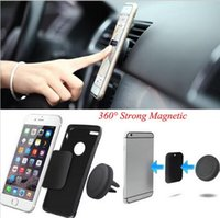 Wholesale Magnetic Mobile Phone Holder Air Vent Bracket Magnet Car Phone Holder Stand Support For iPhone5s s plus Samsung Galaxy