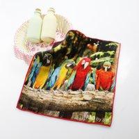 Wholesale Hot Parrot Logo Landscape Handkerchief cm Hand Towel Luxurious Drying Towel