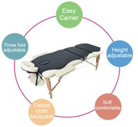 Wholesale One Piece Portable Folding Massage Bed with Carring Bag Professional Adjustable SPA Therapy Tattoo Beauty Salon Massage Table