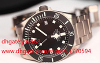 Wholesale Mens Luxury Brand Christmas watches black dial en s Automatic stainless steel PELAGOS Strap TB Wristwatches