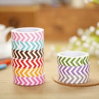 Wholesale Paper Tape Cute Colorful Wave Pattern DIY Tape Stickers Handmade Essential Decorative Sticker for Party Decoration Supplies