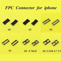 Wholesale 6models each for FPC connector for iPhone g S C S SE plus S Splus Battery Clip on motherboard mainboard