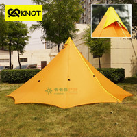 Wholesale Outdoor camping Teepee tent person season large ultralight tent waterproof windproof backpacking hiking tents only g