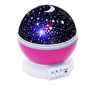 baby bulb - Baby Night Light Moon Star Projector Degree Rotation LED Bulbs Light Color Changing With USB Cable Purple Unique Gifts