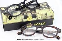 al por mayor gafas de johnny-2016 Vidrios eyewear johnny depp de johnny de Moscot del diseño de marca de fábrica Vidrios eyewear eyewear de johnny depp de Moscot de la marca de fábrica de calidad superior con el remache 1915 de la flecha envío libre