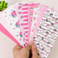 al por mayor papelería sobre de papel-Venta al por mayor-10pc Creative Envelopes Baby Gift Corea papelería al por mayor Envío Gratis Cute Colorful Paper Envelopes