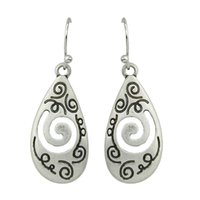 antique drop earrings - Ethnic Style Antique Silver Color Fashion Drop Earrings for Women