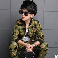 Wholesale Boys Camouflage Clothing Sets Spring New Kids Clothes Sports Sets Children s Clothing Sets Colors Peice Size6 ly159