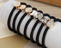 Wholesale 2017 new beatiful nice grate ribbon ring Hand knot Mixed color Gold ring band Small gift present popular loveble colorful girls Full