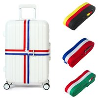 adjustable trolley - Cross Luggage Straps Trolley Suitcase Adjustable Safe Security Belt Parts Items Travel Accessories Supplies Products