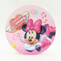 Wholesale inches minnie mouse theme cake plate party supplies disposable paper plates for happy birthday party decoration