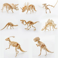 animal skeleton models - Starz DIY D Wooden Animals Dinosaur Skeleton Puzzles Toys T rex Model Building Kits Children Gifts for Kids