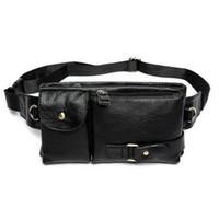 Wholesale 2017 designer Fashion vintage waist packs bag men genuine cowhide leather waist bag leather small bags for male sport packs belt bag R012