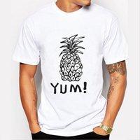 aloha shirt xl - New Men s Aloha Pineapple Print T shirt Fashion Pineapple Supply Design Short Sleeve Tops Men Tshirt Cool O neck T shirt