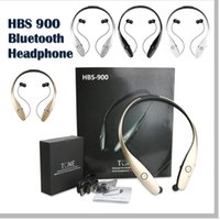 Wholesale HBS Tone Wireless Headphone Stereo Sport Headset Handsfree Headphones for LG Smartphone with Retail Package No logo Not Original HBS900