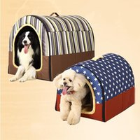 Wholesale Indoor Pet Dog Houses Multi Function Dog Cat Bed Flannel Washable Puppy Cushion Mat JJ0182