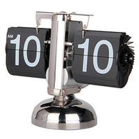 antique novelty clock - Newest Design Creative Technology Decoration Automatic Balance Desk Flip Clocks For Home Decor Novelty Retro Table Clocks