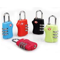 Wholesale Customs Luggage Padlock TSA338 Resettable Digit Combination Padlock Suitcase Travel Lock TSA Locks DHL