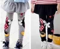 Wholesale Spring Autumn Baby Kids Girls Minnie Cartoon Mouse Pants Leggings Children Skirt Pants