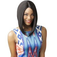 african heat - synthetic hair womens wigs straight short bob wig mediume length wigs for black women top quality heat resistant female african american wig