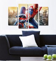 Wholesale City Spider Man Movie Poster abstract painting home decoration painting Frameless paintings