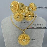 Wholesale ashion Jewelry Jewelry Sets Habesha set ethiopia style necklace earrings ring bangle gold plated eritrea ethiopian easter jewelry sudan