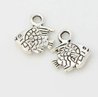 Charms antique jewelry findings - Antique Silver Cute Fish Charms Pendants Jewelry DIY L062 x9 mm Jewelry Findings Components Fit Bracelets Necklaces