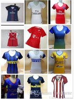 arsenal club - DHL Mixed buy Women Arsenals Tigers Atleticos Madrids Inters Milan Jerseys Real Madrid Shirt America club Jersey