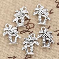 Wholesale Charms palm tree coconut mm Antique pendant fit Vintage Tibetan Silver DIY for bracelet necklace