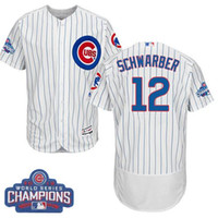 best waterproof clothing - Men s Chicago Cubs Kyle Schwarber World Series Champions Best Quality Baseball Jersey With White Blue clothing Mix Order