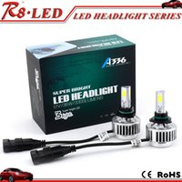 automobile cooling fans - Automobile parts A336 high power led headlight bulb h7 h13 for car W built in fan super cooling