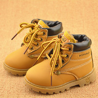 Wholesale size21 New Boots eye Ankle flat Children boots shoes hook