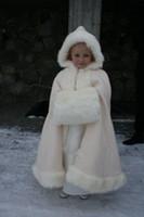 Satin abaya for girls - 2015 Lovely Flower Girls Abaya For Wedding White Floor Length Pearl Cloaks Hooded Floor Length Applique Little Girls Pageant Dresses