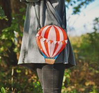 balloon red - New Designer Hot Air balloon Shaped Messenger Bag Women Fashion Colorful Flaps Casual Mini Cross Body Shoulder Bag Wallet