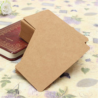 Wholesale Hot Kraft Paper Label DIY Bookmark Blank Tags Retro Painting Written Word Message Note Card DIY Gift X5 cm