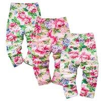 beautiful trouser - Colorful bloom beautiful spring autumn season girls trousers tight pants kids clothing infant leggings grils pants