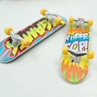 Wholesale New cartoon Anime Professional Finger Skateboard zinc alloy Stents Bearing Wheel Fingerboard Novelty Items Children Toy