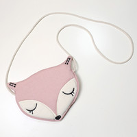Wholesale New Style Baby Fox Fashion Handback Cute Storage Bag Single Shoulder Bags Kids Money Bag Handbacks Casual Hot Sale