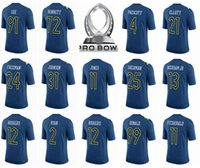 Football aaron football - 2017 Pro Bowl Jersey Ezekiel Elliott Dak Prescott Aaron Rodgers Odell Beckham Jr Landon Collins Richard Sherman Donald