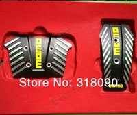 auto brake pad - Set Automotive MOMO NERO Pedals Non slip Car Foot Pedal Automatic Brake Pedal Sport Pedal Pad Cover For Auto Car