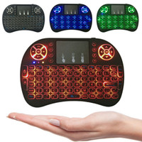 Wholesale Rii mini i8 Wireless Backlit Keyboard G RF Qwerty Touchpad gaming Teclado for Mini PC Laptop Tablet Andorid TV box
