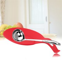 Wholesale Hot Search Random Color Silicone Spoon Rest Heat Resistant Kitchen Utensil Spatula Holder Cooking Tool