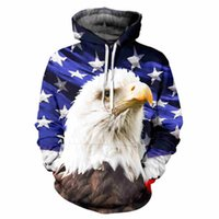 belt manufacture - 2017 New good manufacture hoodies d print us flag white mouse eagle high quality unisex sweatshirt hiphop loose hoodie