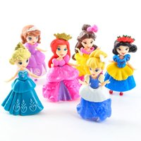 belles play - Chinese New set Princess Play Set Snow White Belle Sofia Elsa Doll Baby Action Figures Toys Dolls Soft Plastic Dress Clothes Changeable